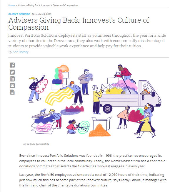 Advisers Giving Back: Innovest's Culture of Compassion