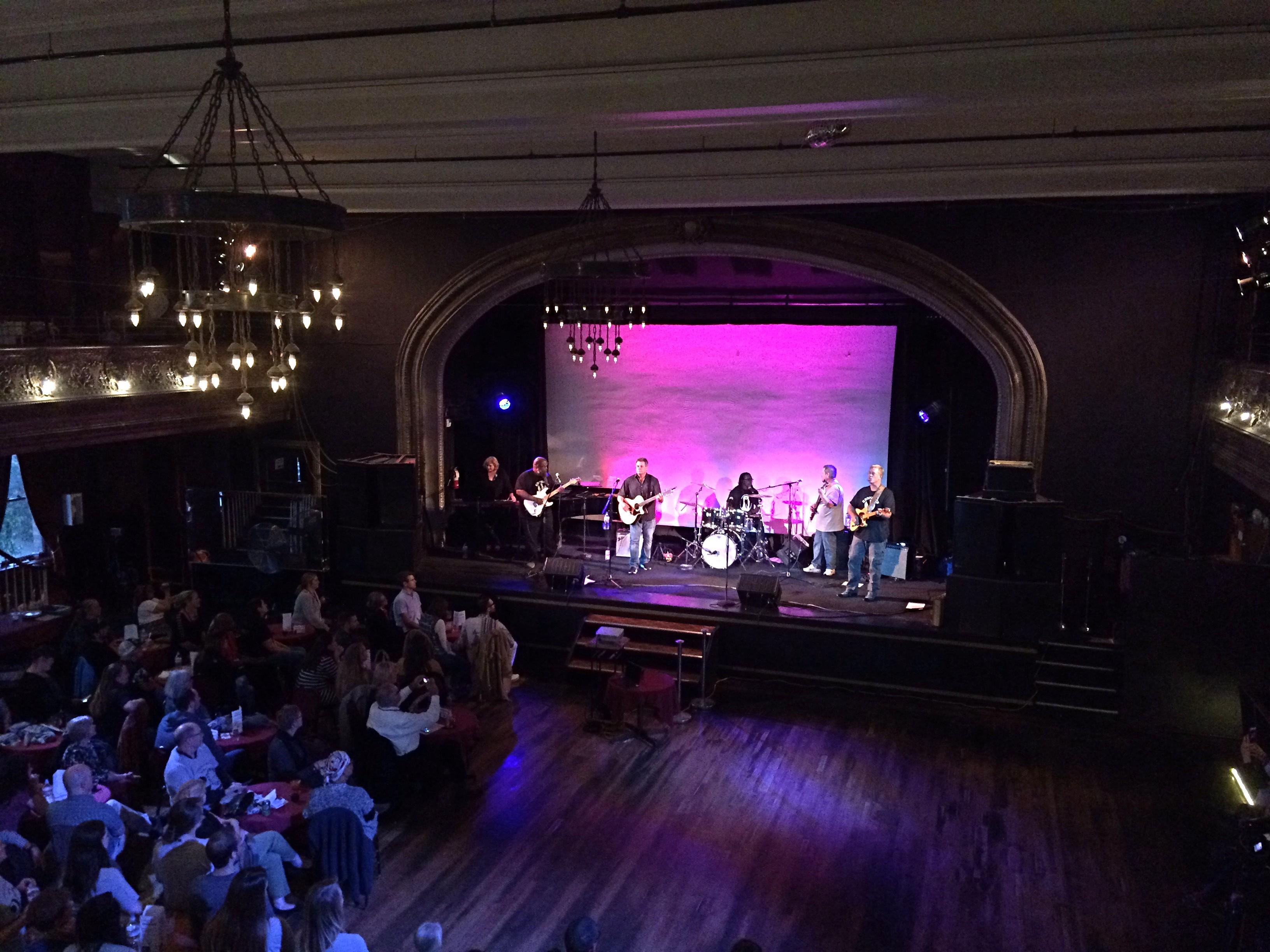 Exonree Band plays on the Century Ballroom stage