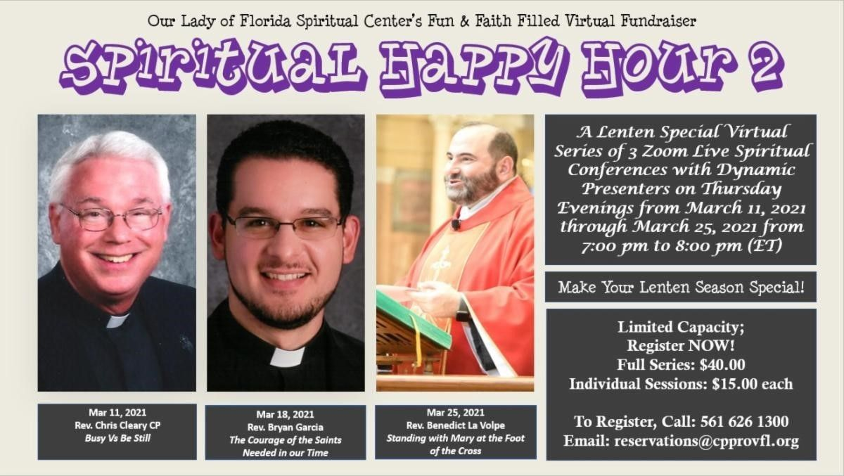 Virtual Events at Our Lady of Florida Spiritual Center
