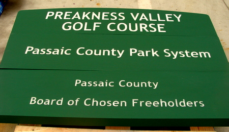 G16238 - Routed Cedar Wood Sign for County Park System