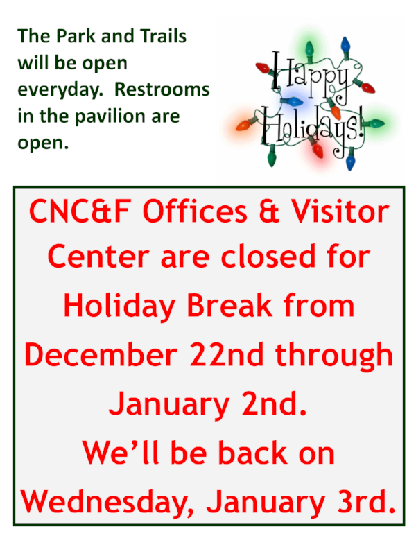 CNC & Farm: Closed for Holiday Break