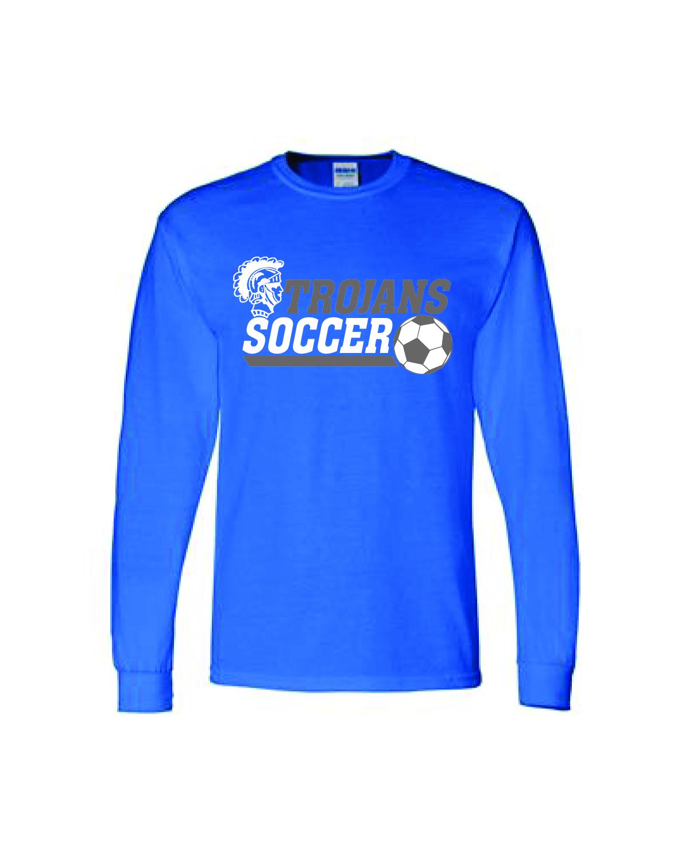 Auburn SOCCER Long Sleeve (Blue)