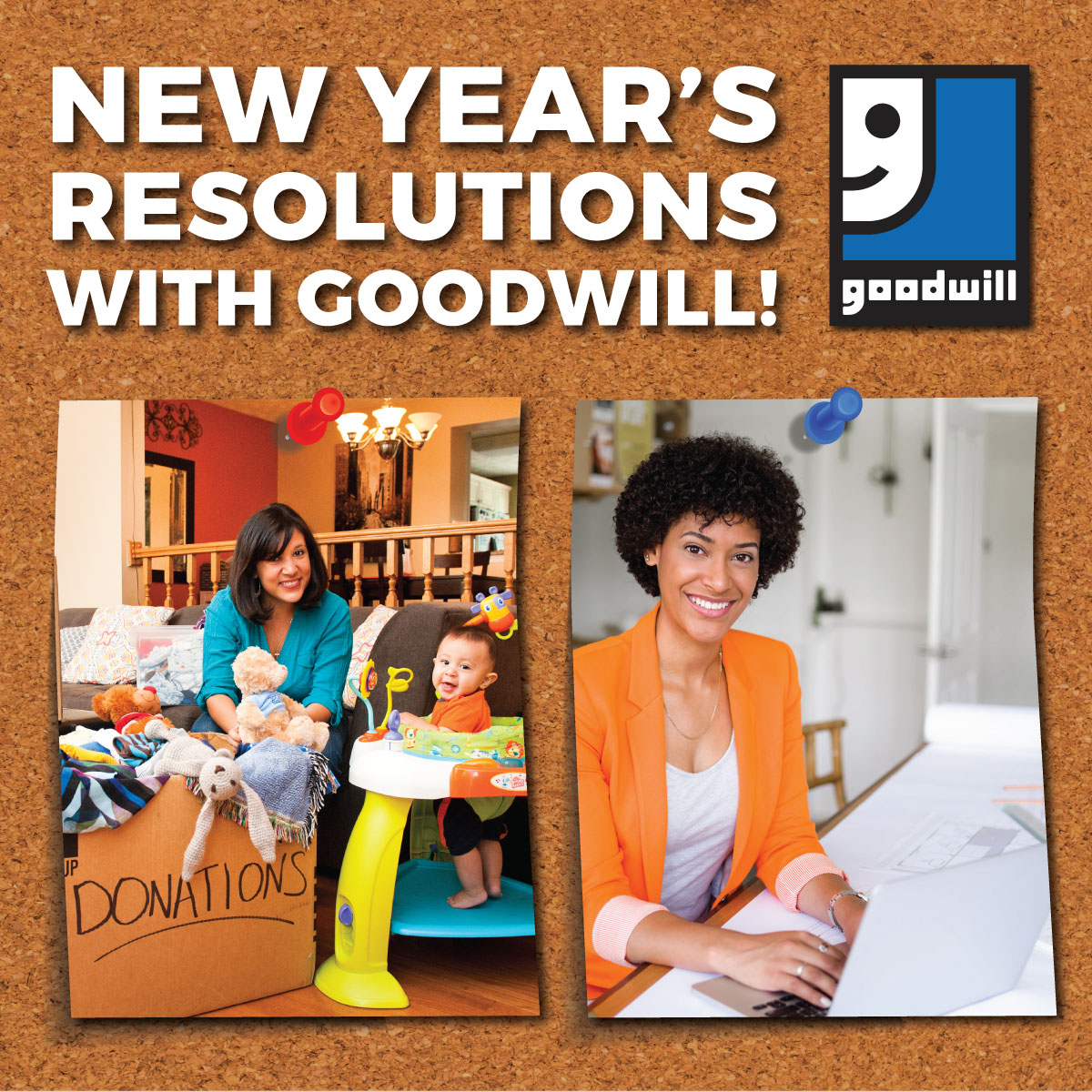 New Year's Resolutions with Goodwill