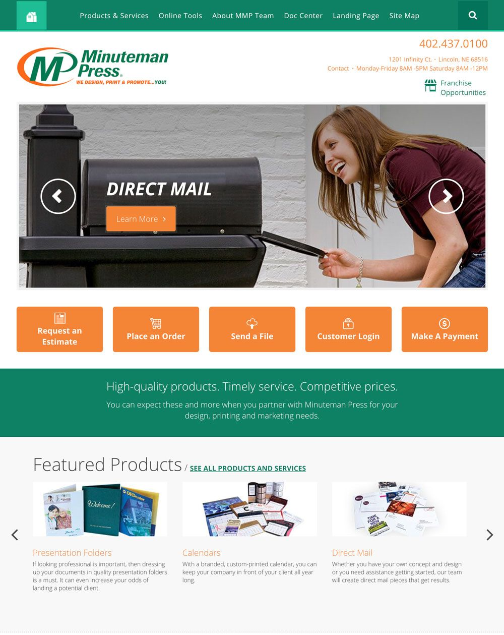 Minuteman Press Responsive Design