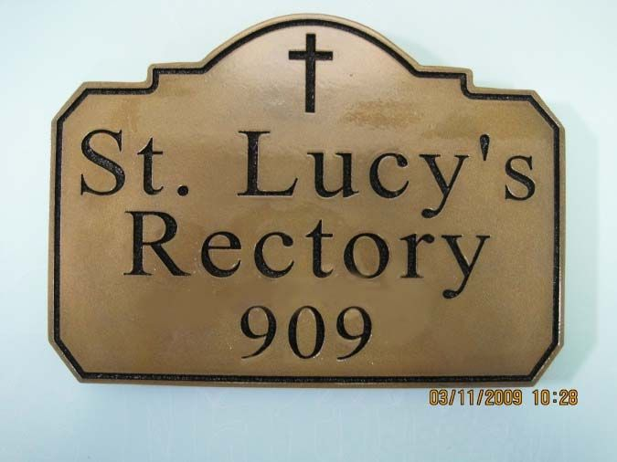 D13127 - Engraved Cedar Rectory Sign
