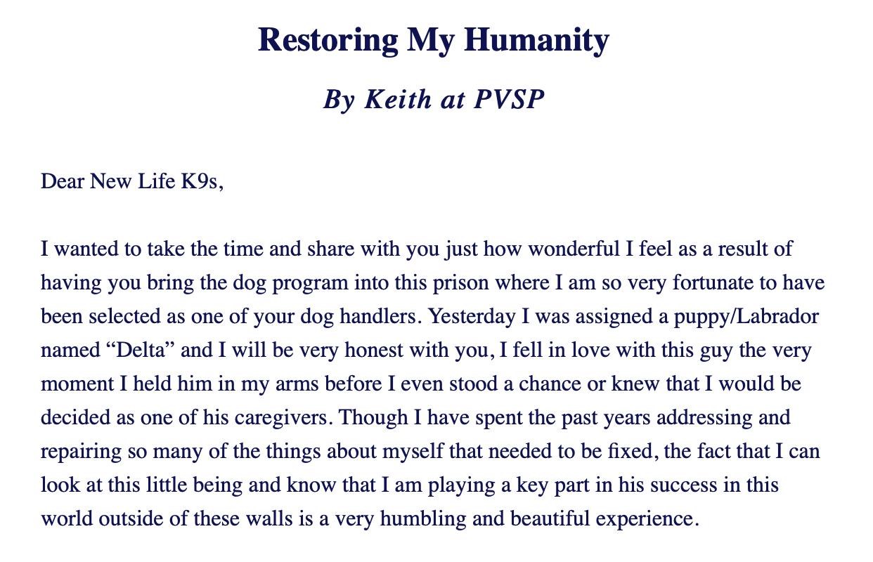 Restoring My Humanity