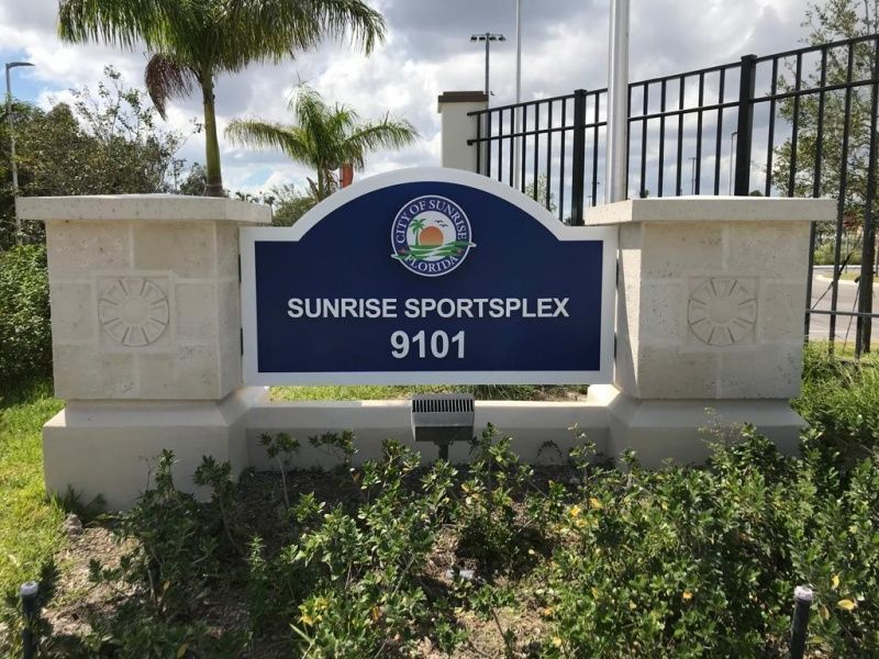 Best Sign Company - Deerfield Beach - Sport Complex Monument Sign