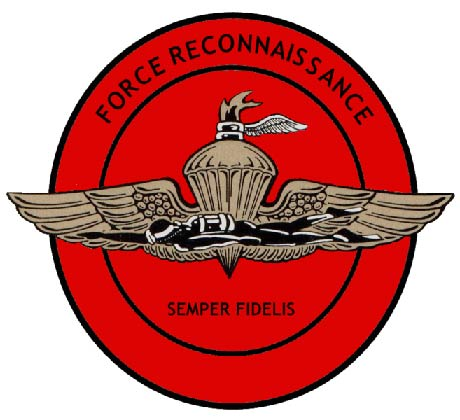 V31423 - Carved Wooden Wall Plaque for Force Reconnaisance, USMC