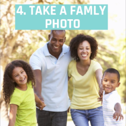 4. Take a family photo.