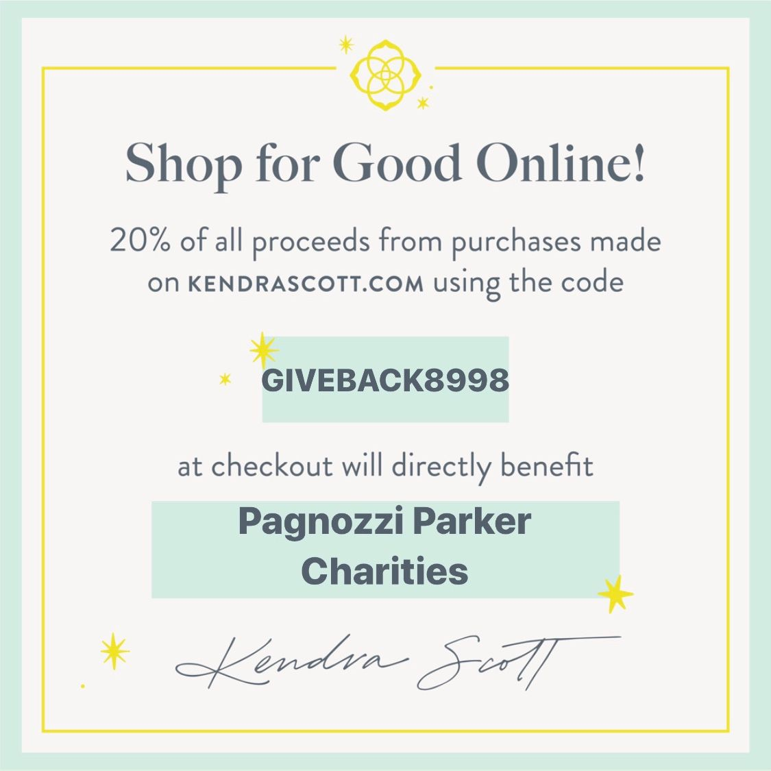 September 16-17: Shop for a Cause with Kendra Scott