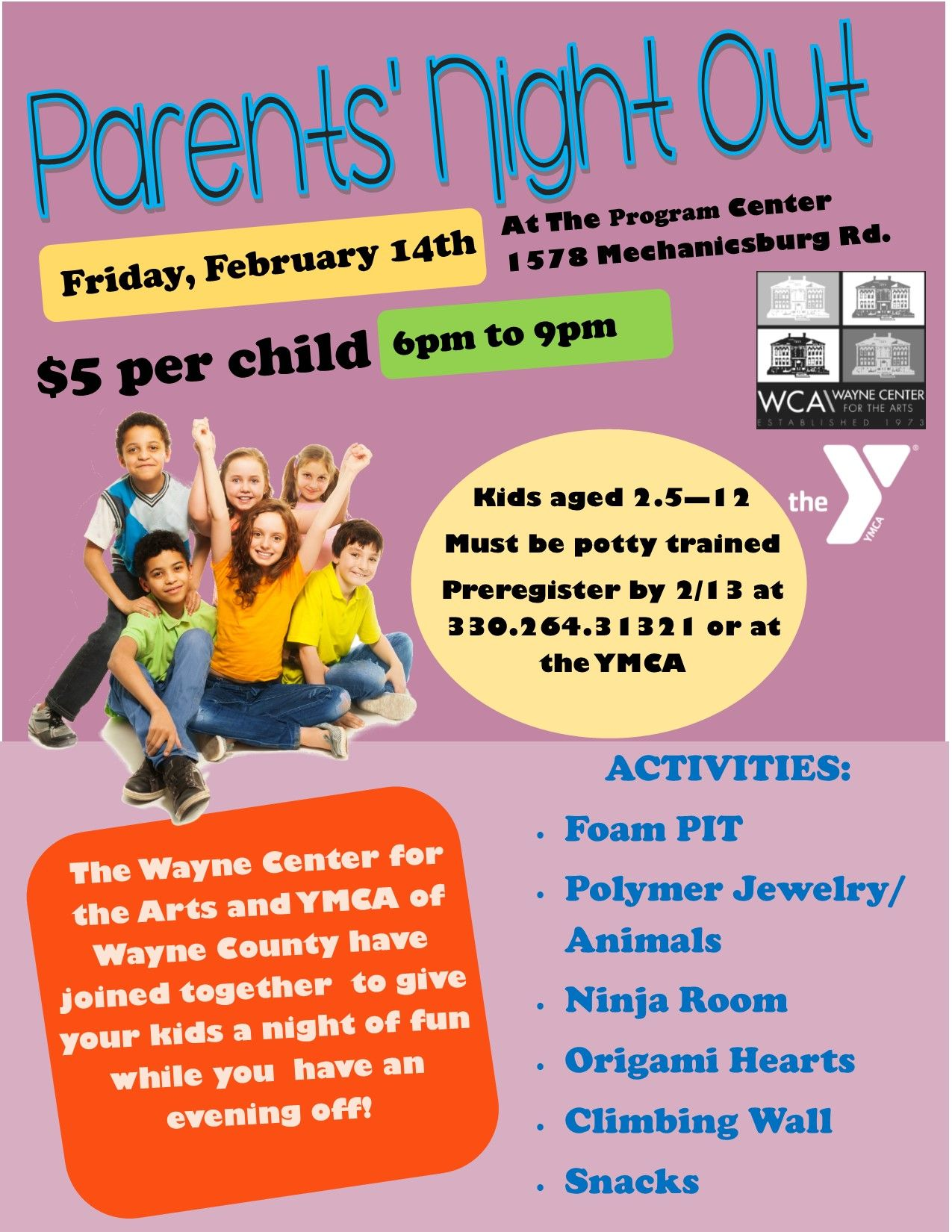 Parents' Night Out at the YMCA