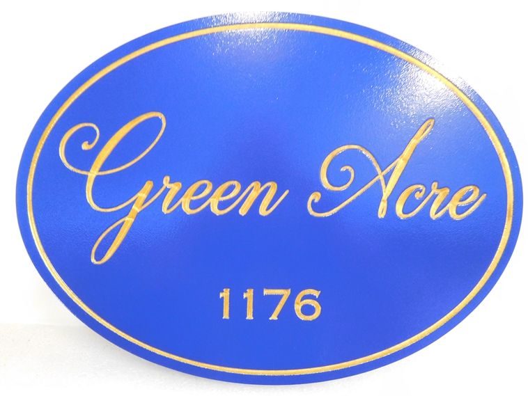"I18107 - Property Name Sign, Engraved HDU, ""Green Acre"""