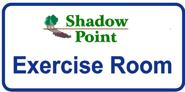 KA20835 - Design of Carved HDU or Wood Sign for Apartment Complex or Condominium Exercise Room