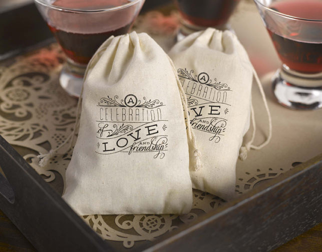 Cotton Favor Bags  - Celebration