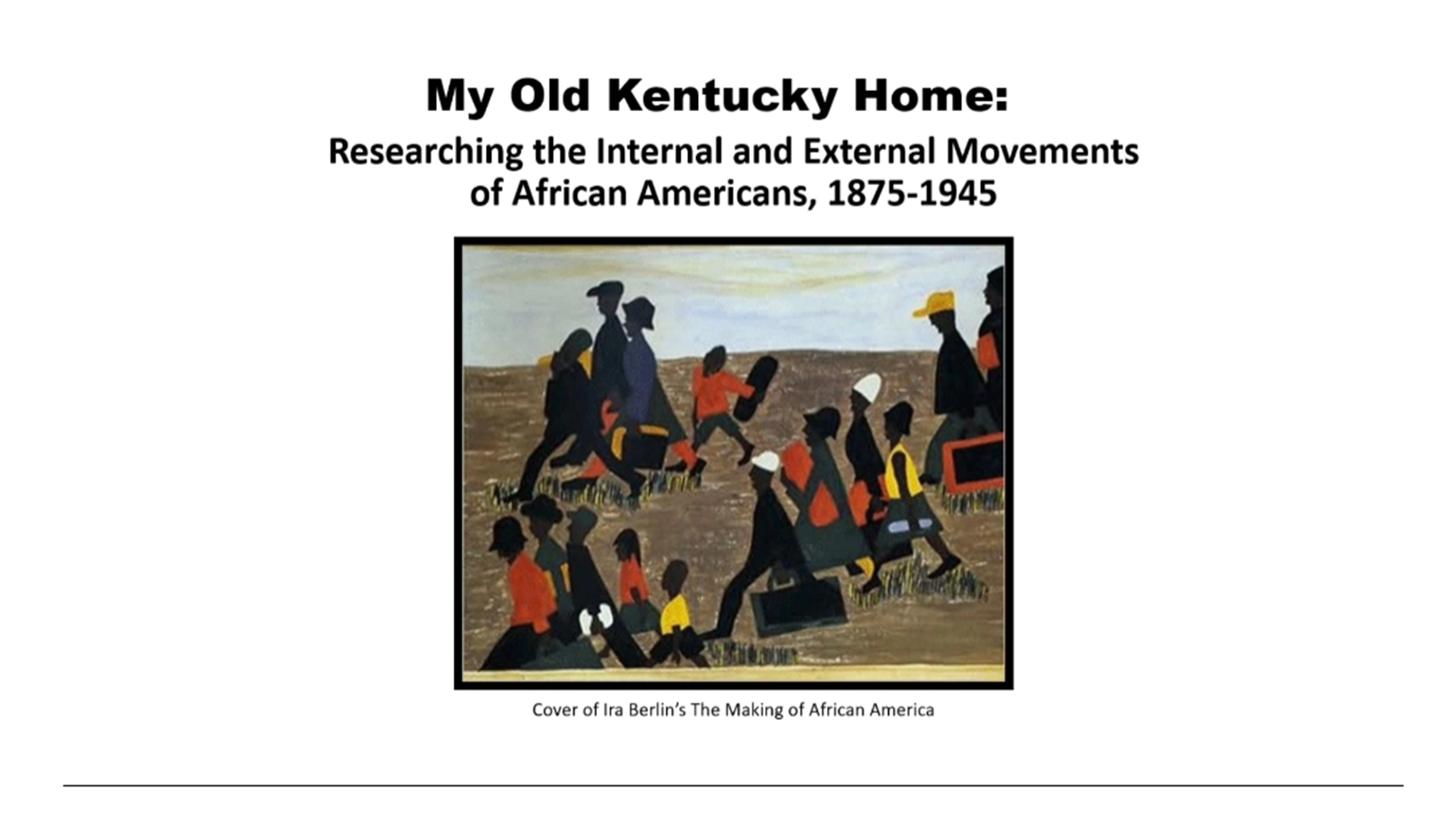 My Old Kentucky Home – Researching the Movements of African Americans, 1875-1900s