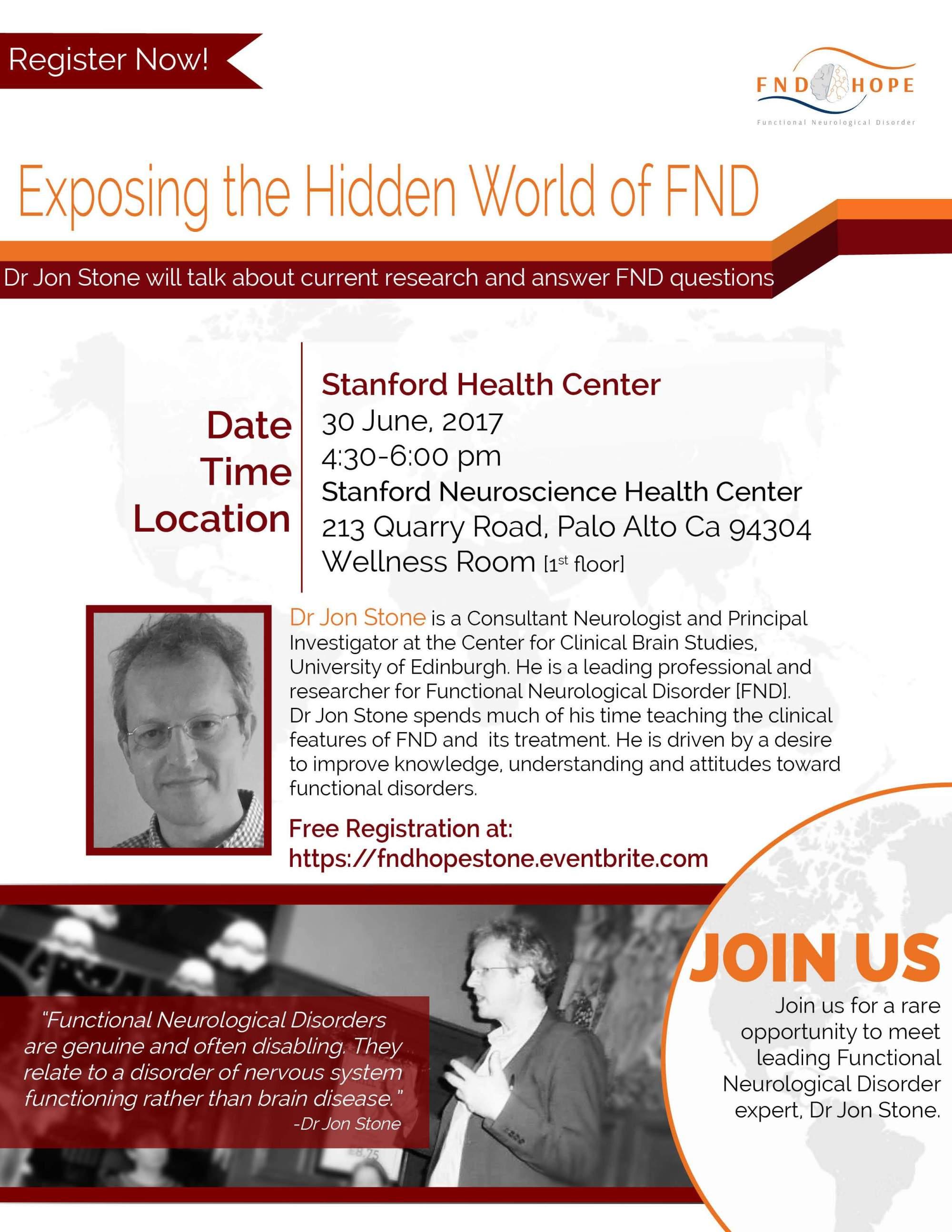Dr. Jon Stone to Speak at Stanford