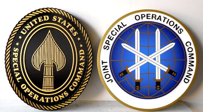 V31162 - Two Wall Plaques for the Joint Special Operations Command