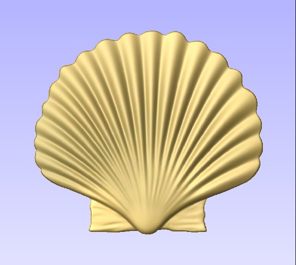 M2996 - Carved Sea Shell, Gold Leaf Gilded