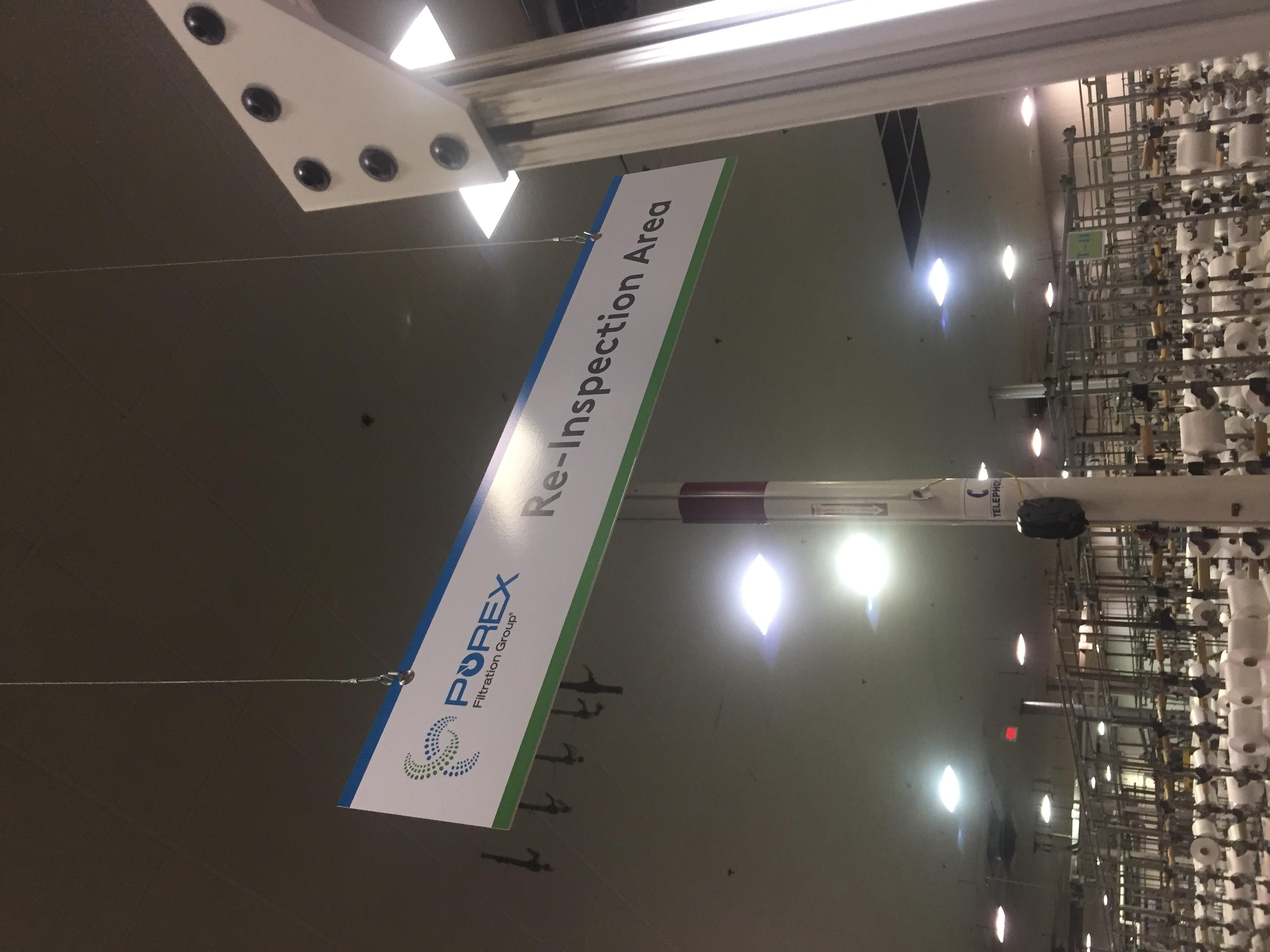 Overhead Informational Interior Signage