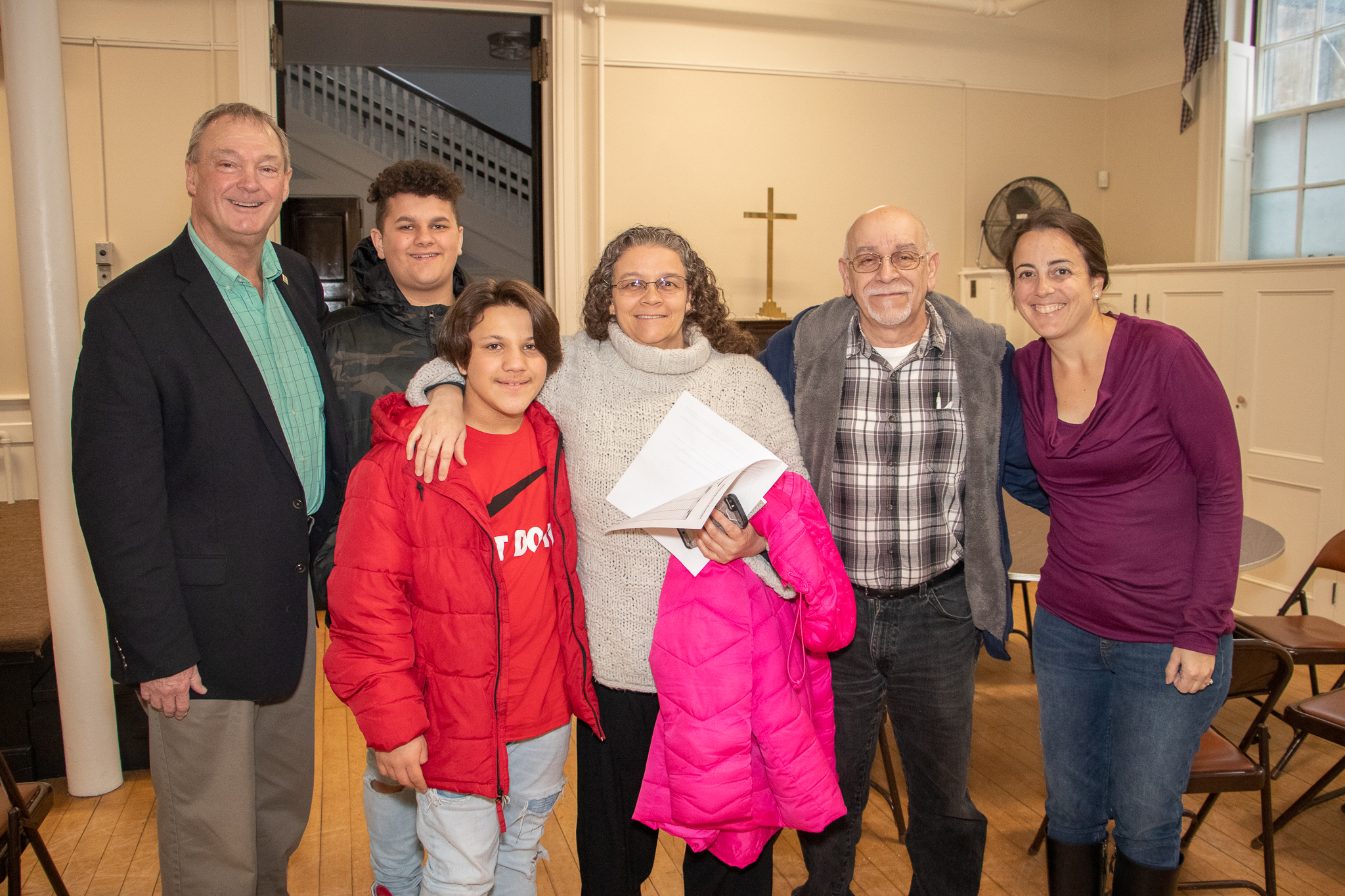 Partner family for one of the two Veterans Homes welcomed by Jim Middleton and Danielle Justo