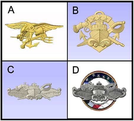 V31397 - Navy 3D Carved Art Appliques for Plaques (4 of 5)