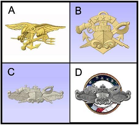 V31397 - Navy 3D Carved Art Appliques for Plaques (4 of 5)