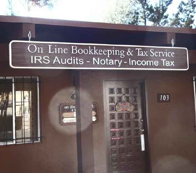 C12060 - Large Hanging Bookkkeeping & Tax Service Sign