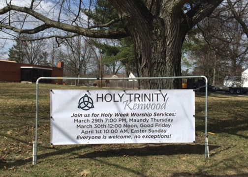 Holy Trinity Banner and Stand