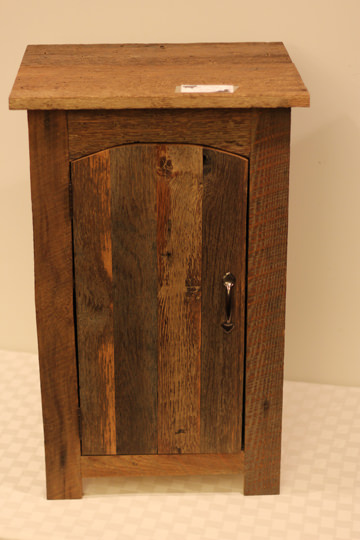 Rustic cabinet made of barn siding - Donated by the artist, Doug Wortman