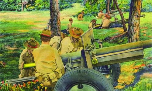 83rd Field Artillery postcard