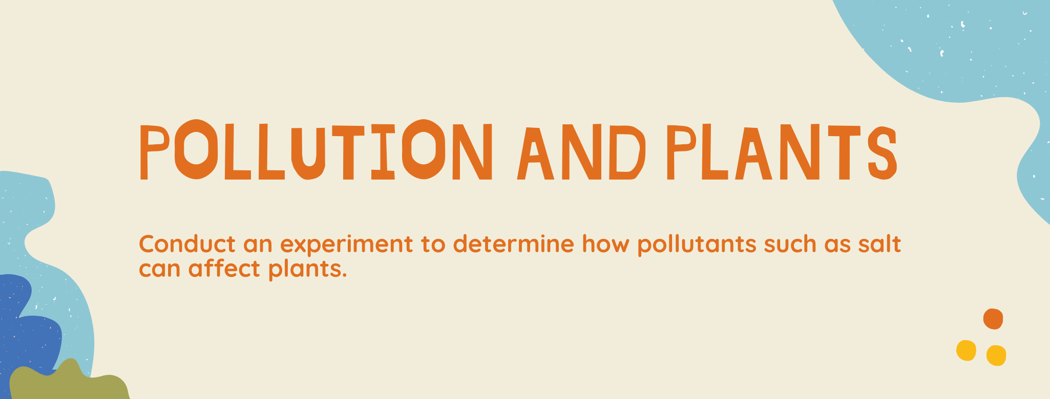 Pollution and Plants