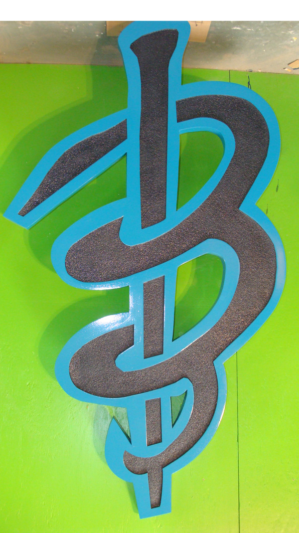 SA28600 - Large Carved HDU Logo Plaque  for a Business