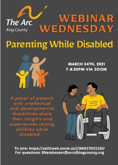Wednesday Webinars: PARENTING WHILE DISABLED