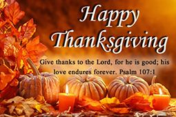 All are welcome to join us for Thanksgiving Day Mass at 9:00 a.m.