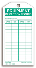 Equipment Inspection Record #10-601