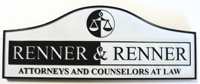 A10123 - Carved Wood Attorney Sign
