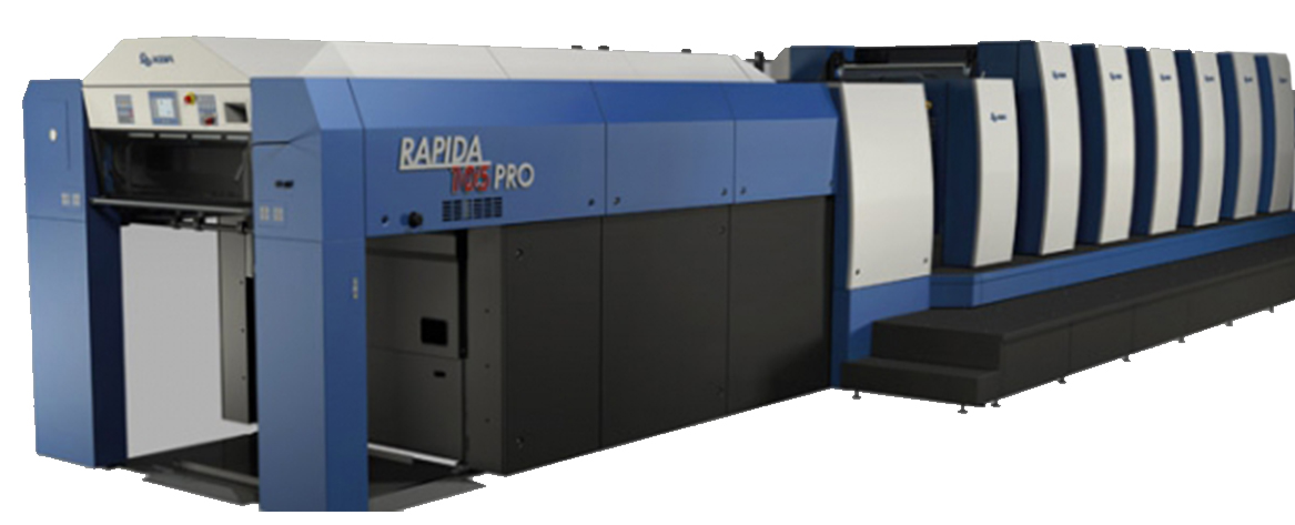 KBA Rapida 105 - 6 color with Coater (26 x 40 Sheet)