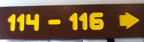 G16355 - Painted Cedar Wood Camp Directional Sign with Engraved Campsite Numbers