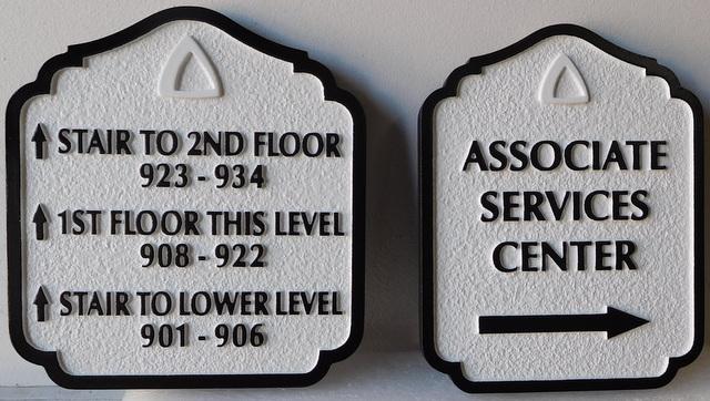 T29414 - Carved and Sandblasted  HDU Wayfinding Resort Hotel Signs