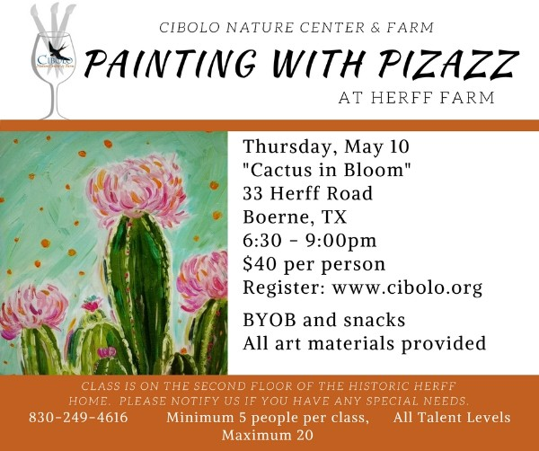 "FARM:  Painting with Pizazz ""Cactus in Bloom"""