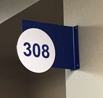 Wall Mounted Blade Room Sign