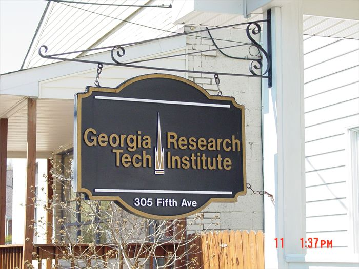 Georgia Research Tech Storefront Sign