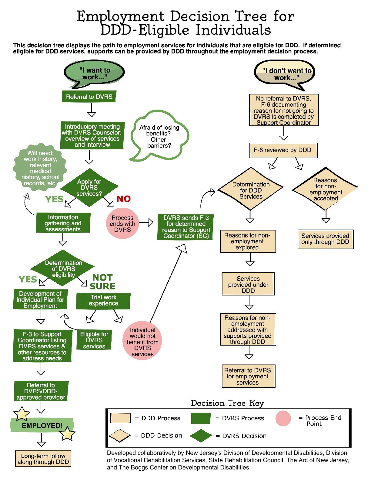Employment Decision Tree for DDD Eligible Individuals