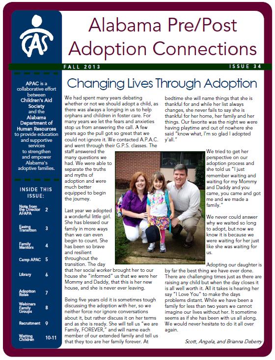 APAC Newsletter Fall 2013