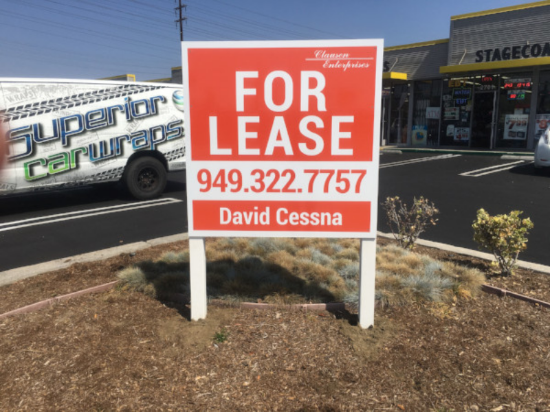 Anti-Graffiti For Lease Signs in Orange County CA