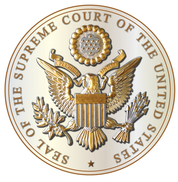 FP-1005  - Carved Plaque of the Great Seal  of the US Supreme Court, Gold Gilded