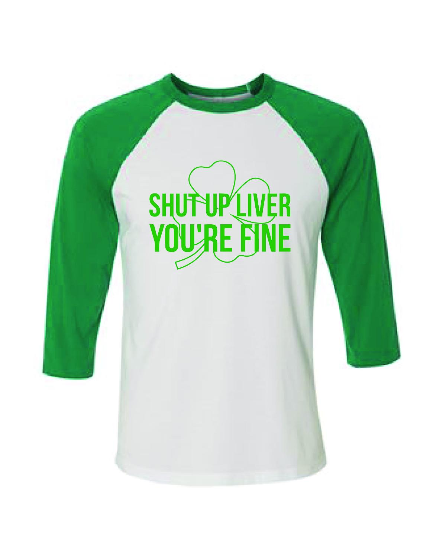 Baseball T-Shirt (Shut up Liver)