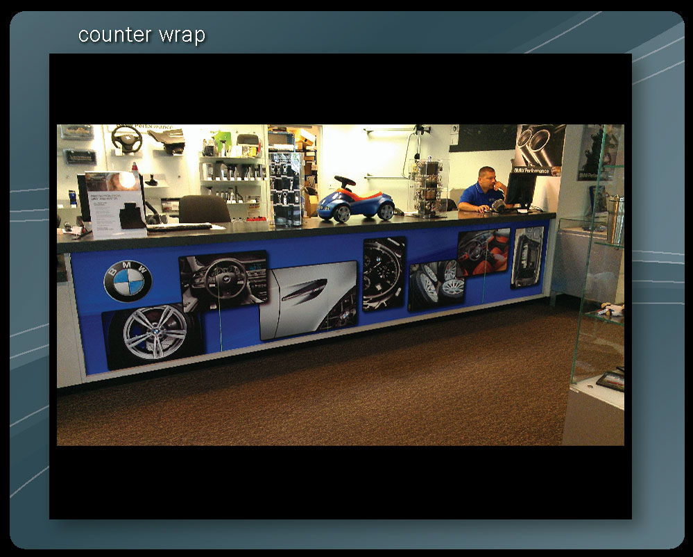 SALES COUNTER WRAP