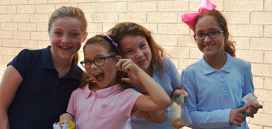Girls having fun at Hyman Brand Hebrew Academy