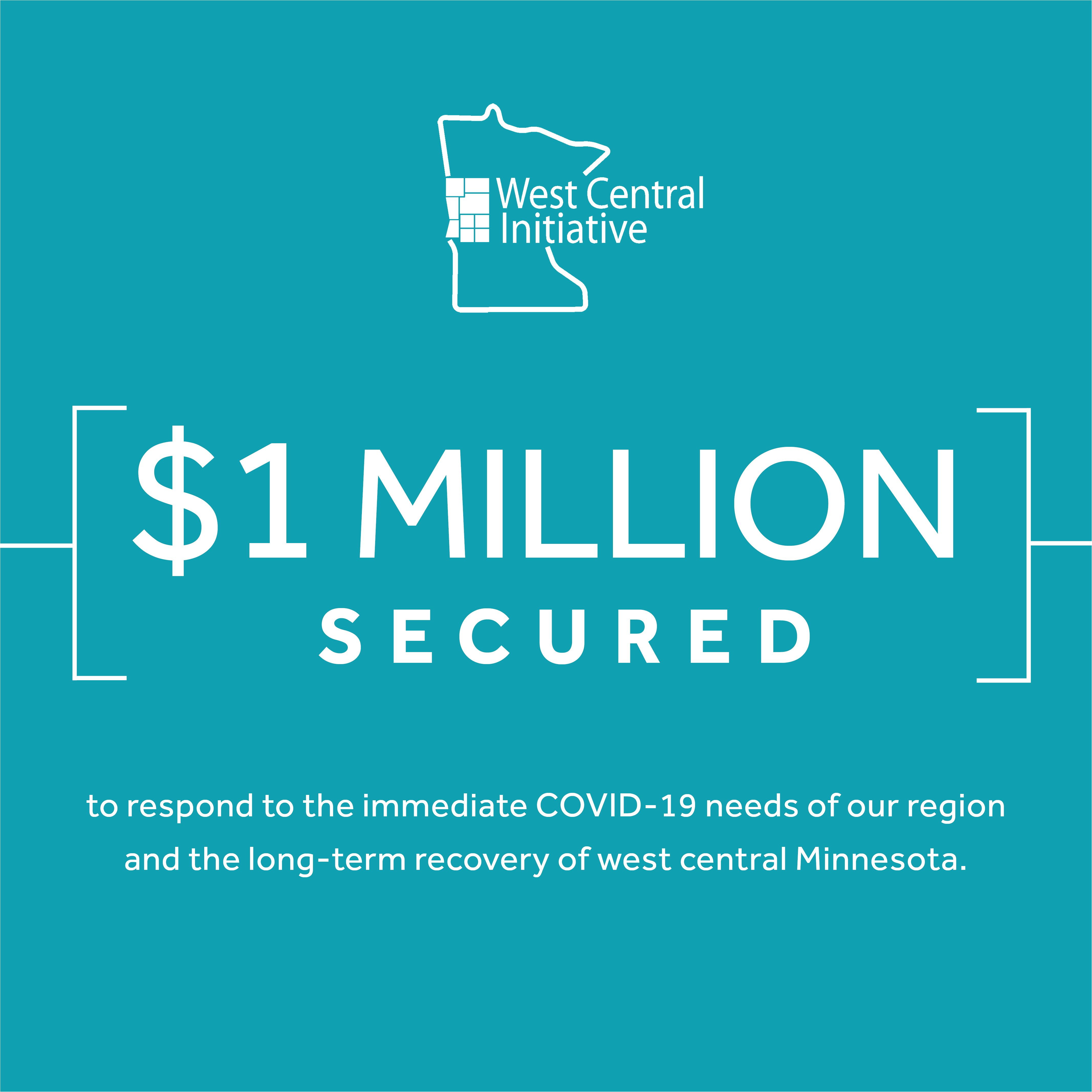 West Central Initiative Secures $1 million to Help Region in COVID-19 Recovery